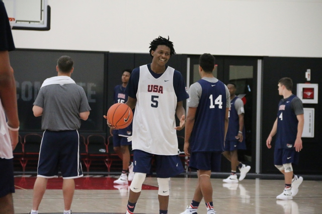 De'Aaron Fox said the best way to impress NBA personnel is to be yourself on the court. (Photo: USA Basketball)