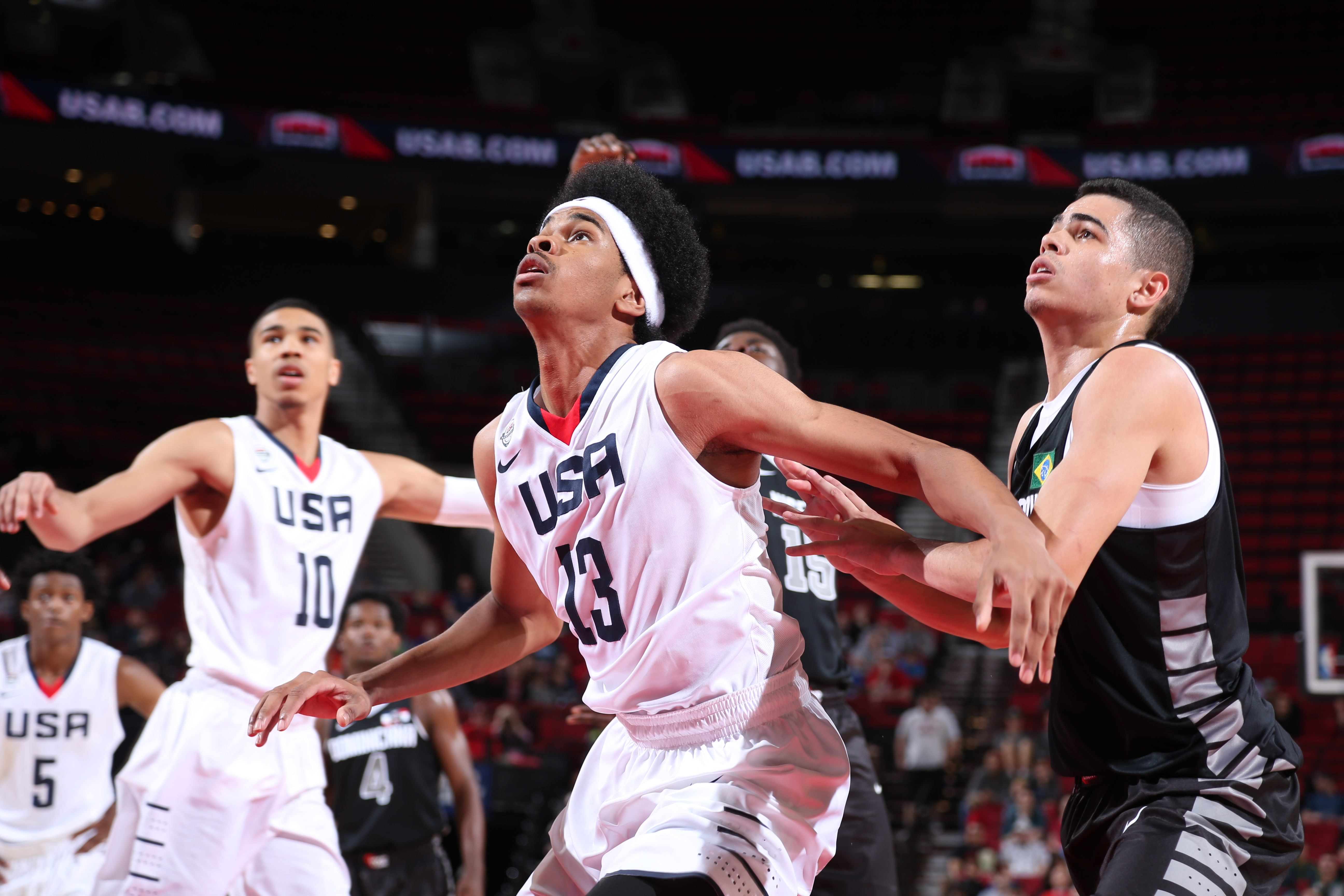 Jarrett Allen is the highest ranked player still on the board. (Photo: Sam Forencich/USA Basketball)