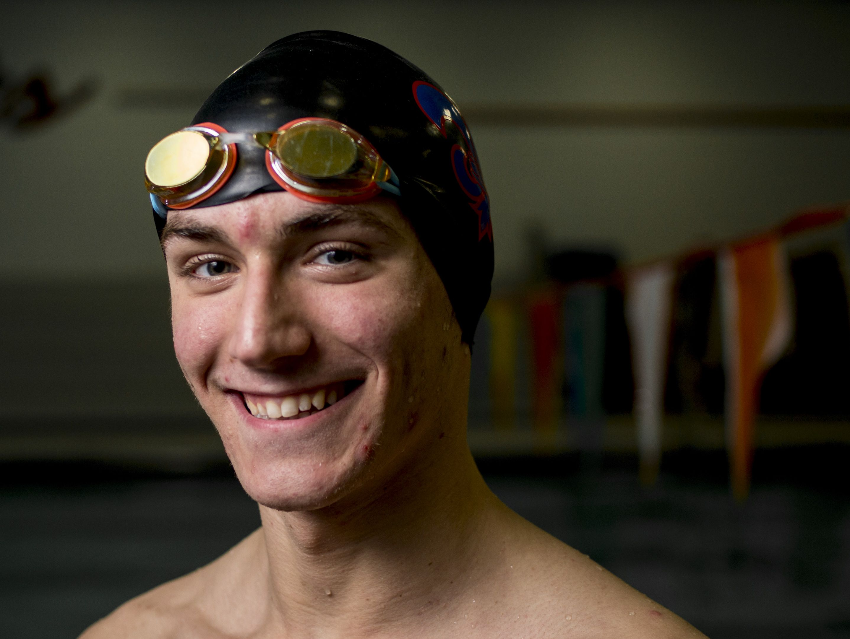 St. Clair High School senior Adam George is the Times Herald Swimmer of the Year.