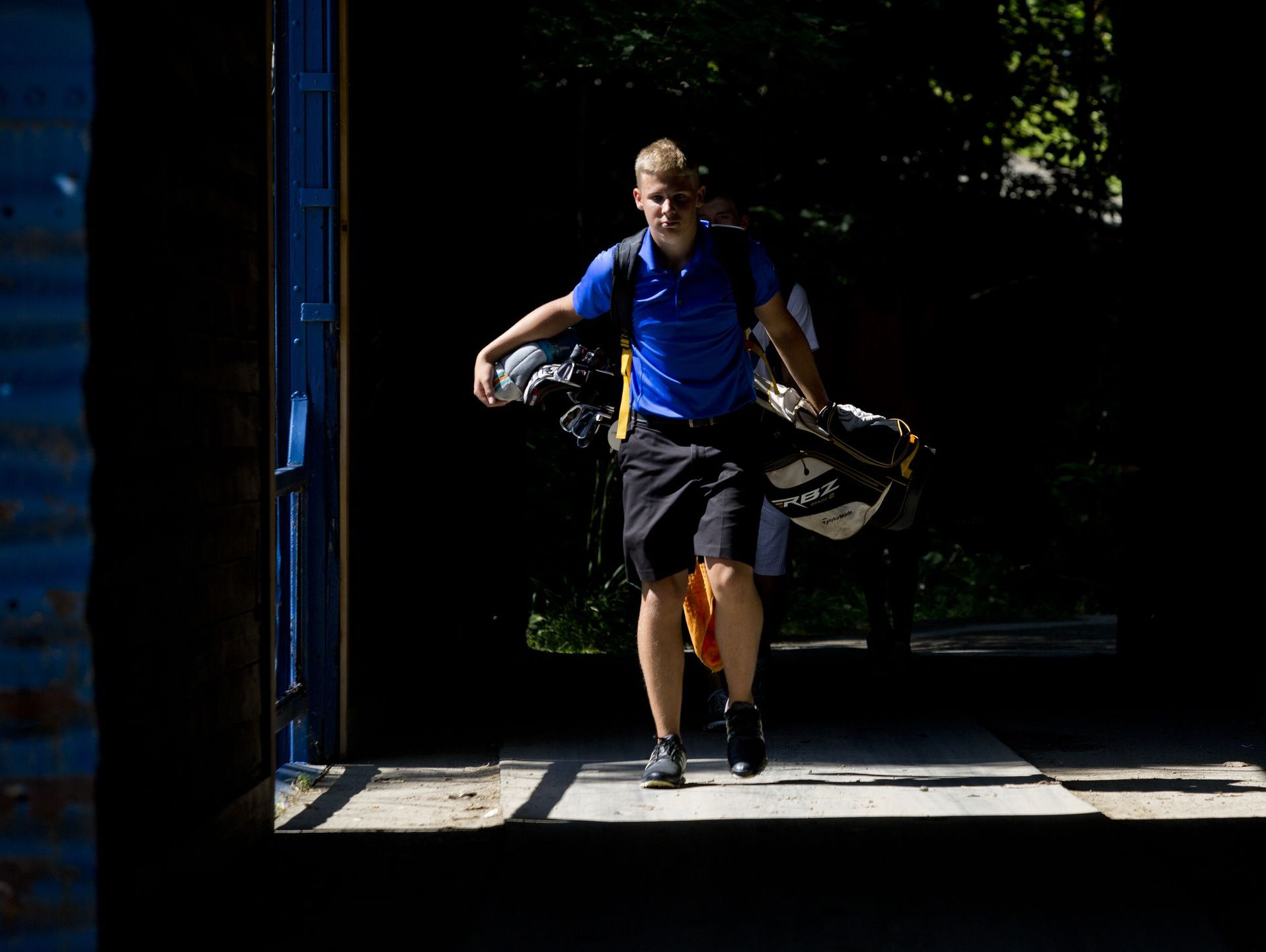 Nick Bailey of Port Huron, walks to the next hole during the Blue Water Junior Golf Association Tournament Thursday, July 30, 2015 at the Marysville Golf Course.