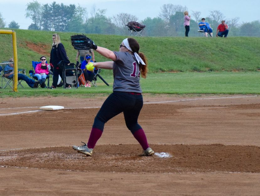 Stuarts Draft's Loryl Kennedy delivers a pitch during the Cougars game against Fort Defiance on Wednesday, April 27, 2016, in Stuarts Draft.