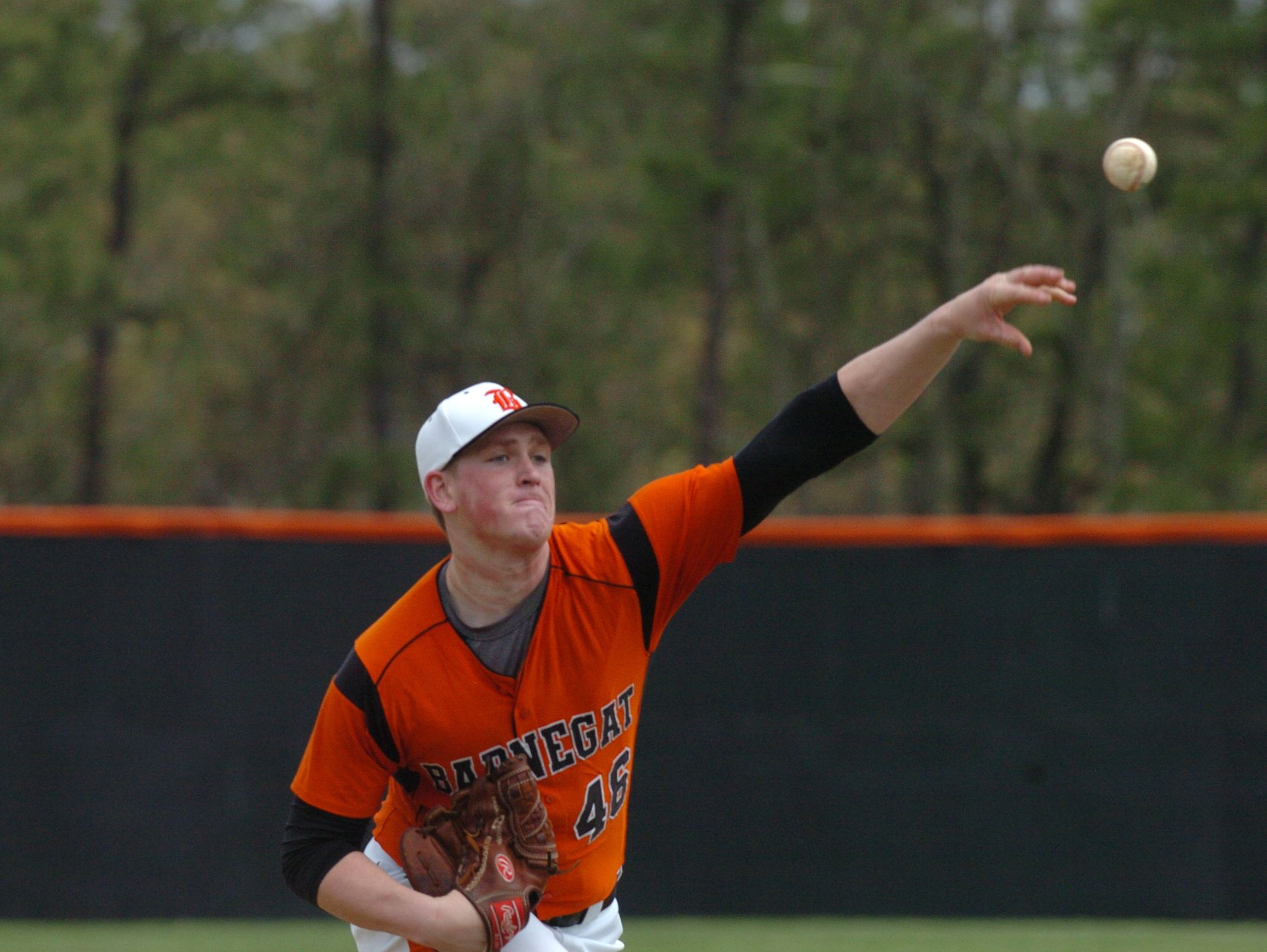 Barnegat pitcher Jason Groome throws against Pinelands in the Ocean County Baseball Tournament.