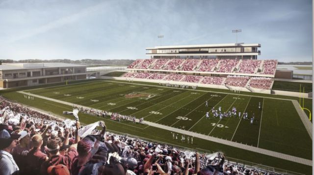 The new Katy ISD football stadium is now expected to cost $62.5 million, the most expensive prep facility in Texas high school history (Photo: Katy Independent School District)