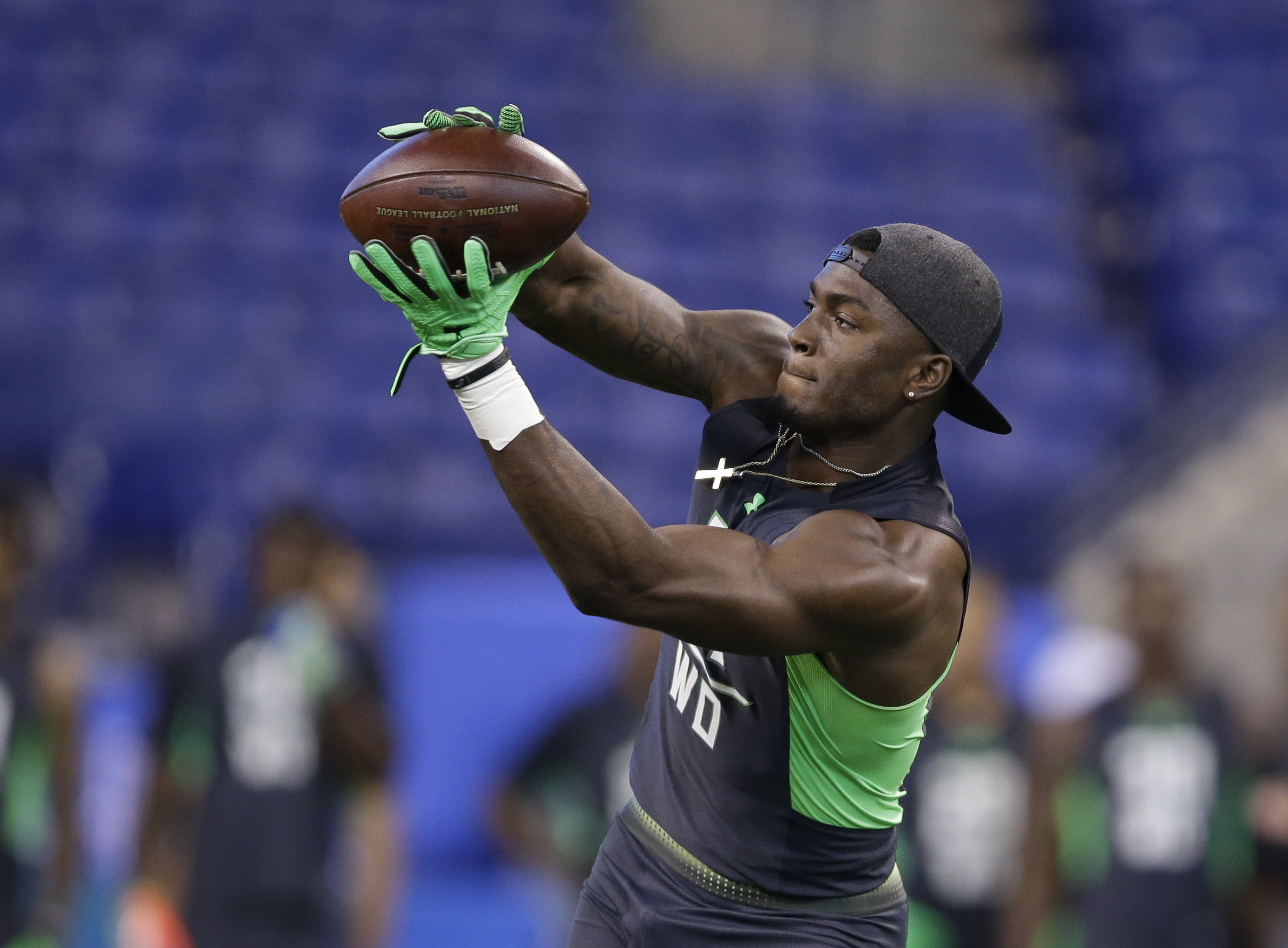 Mississippi receiver Laquon Treadwell runs a drill at the NFL Scouting Combine (Photo: Darron Cummings, Associated Press)