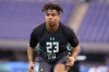 Florida defensive back Vernon Hargreaves performs a drill at the NFL football scouting combine Monday, Feb. 29, 2016, in Indianapolis. (AP Photo/Gregory Payan) ORG XMIT: INDC1