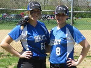 Carly Wagers, left, and Kacey Smith threw consecutive no-hitters last weekend. (Photo: Thanks to Chris Smith)