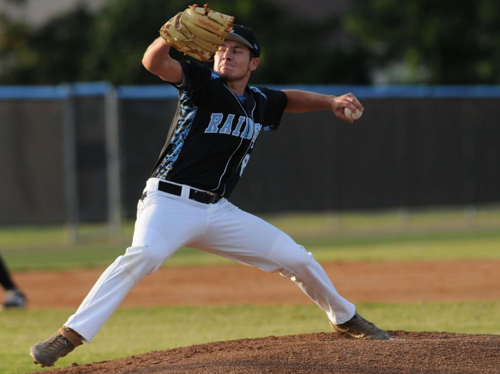 Left-handed pitcher Drew Parrish leads No. 11 Rockledge, Fla., in hitting at .525. (Photo: Florida Today).
