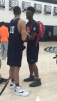 Harry Giles III (right) shares a laugh with his future teammate at Duke Jayson Tatum (left). (Photo: Jason Jordan)