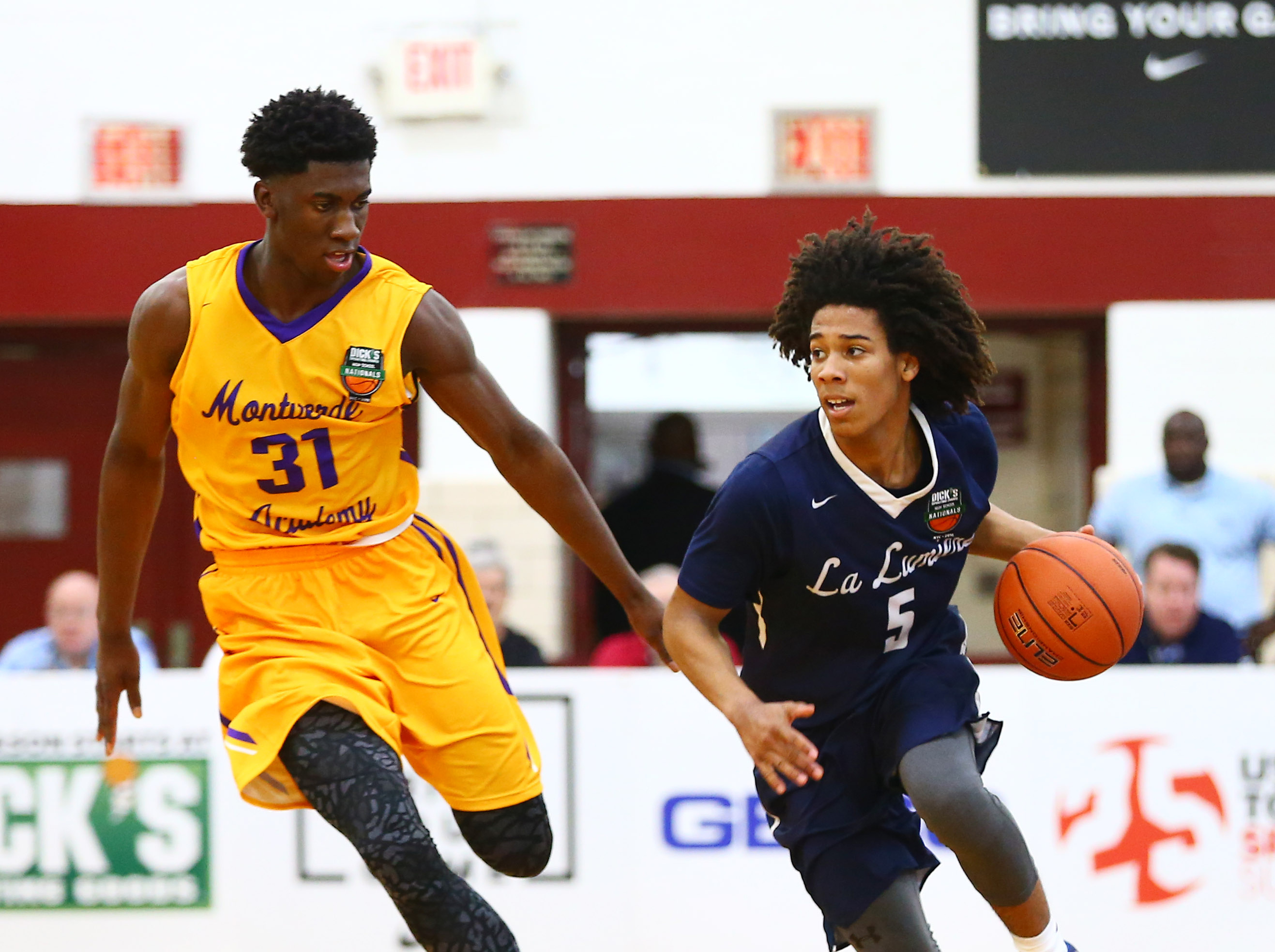 La Lumiere guard Tyger Campbell (5) helped the Lakers to their first finals appearance at the DICK'S Nationals (Photo: Andy Marlin, USA TODAY Sports)