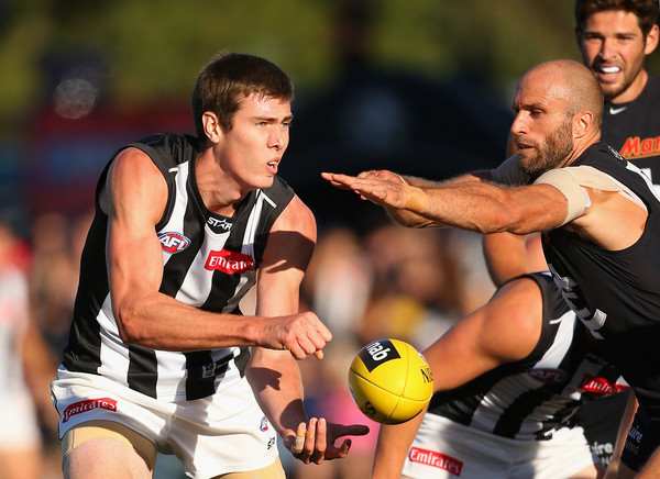 Mason Cox moved on from two boys soccer state titles in Texas and four years of basketball at Oklahoma State to start a career in Aussie rules football with legendary club Collingwood (Photo: Getty Images)