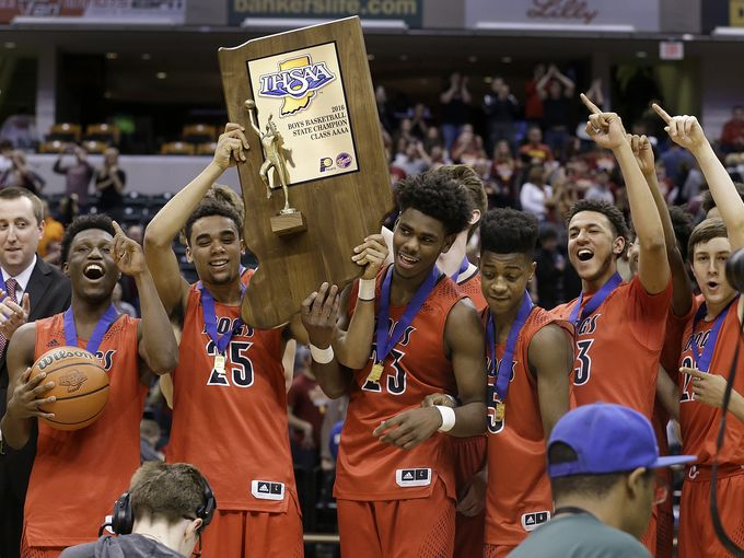 New Albany won its first state title since the 1970s (Photo: Matt Kryger, Indianapolis Star)