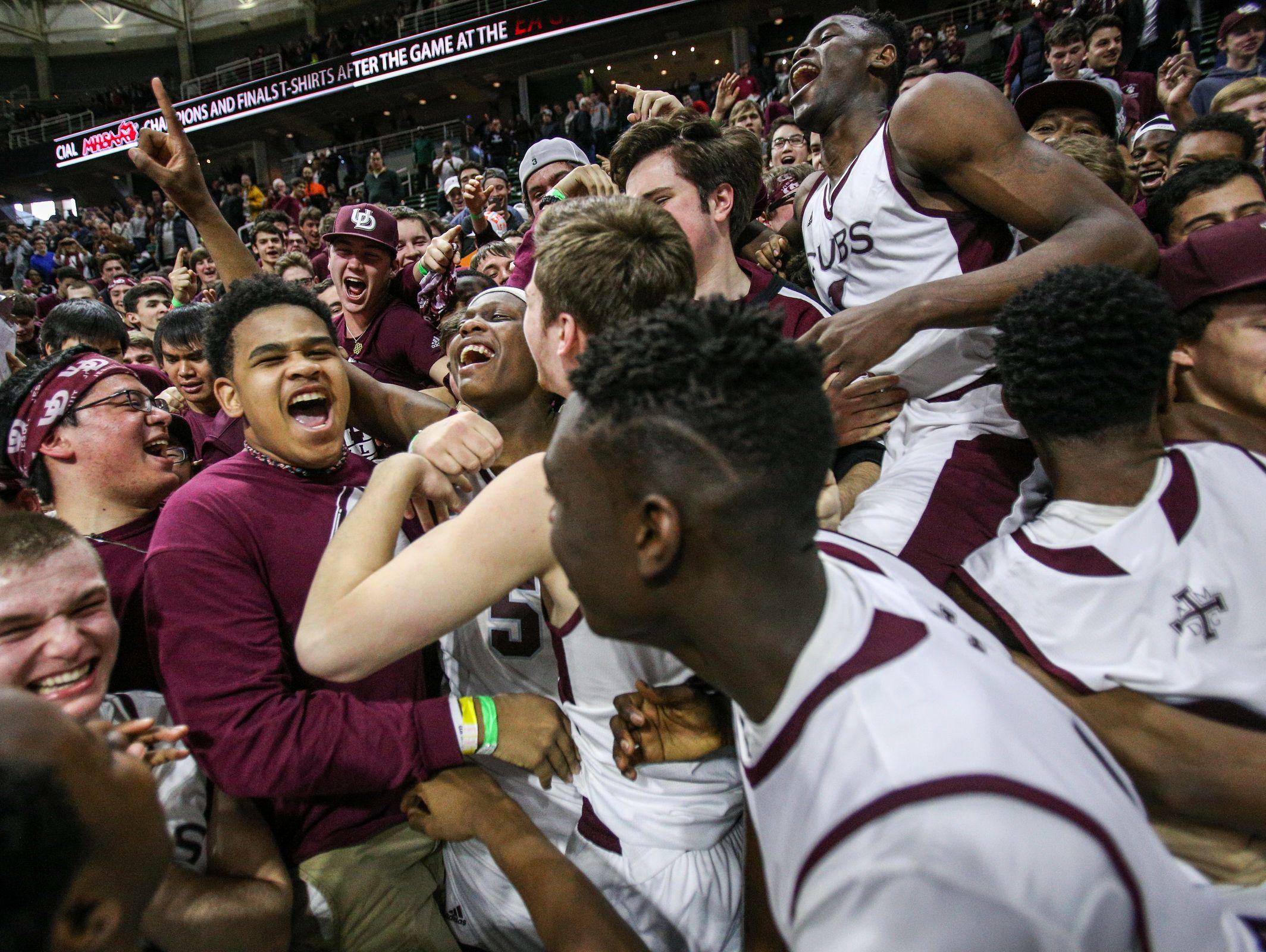 Detroit Jesuit celebrates a state championship (Photo: Kimberly P. Mitchell, Detroit Free Press)