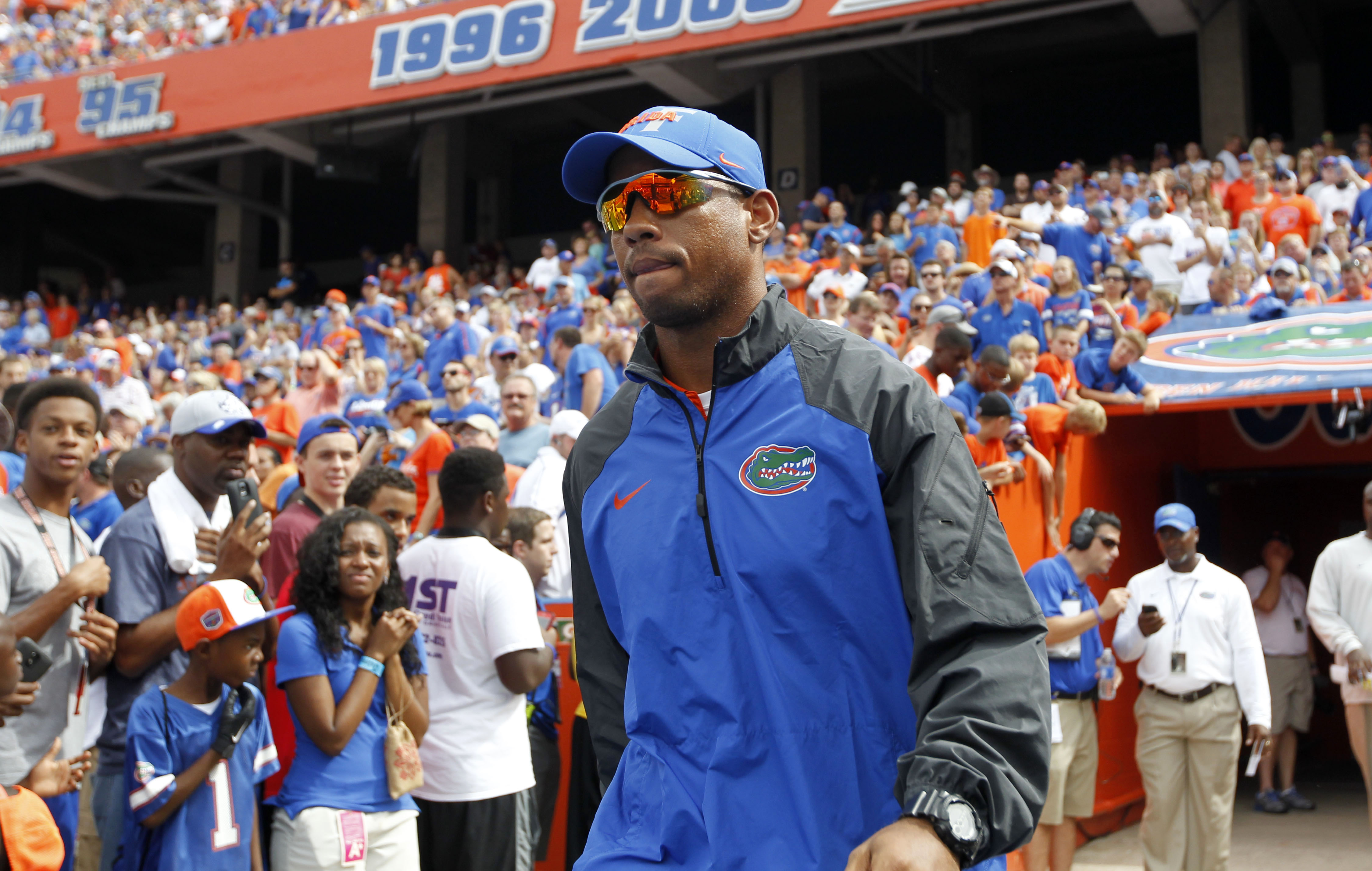 Former Florida Gators quarterback and wide receivers coach Chris Leak is now the head coach at Orlando's Edgewater High. (Kim Klement/USA TODAY Sports)