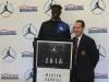 Wenyen Gabriel receives his Jordan Brand Classic banner (Photo: Jordan Brand Classic)