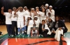 4/12/2016 10:00AM -- Middle Village, NY, U.S.A -- Ribault poses for a team photo after defeating Riverdale Baptist 75-49 to win the national championship during Dick's Sporting Goods High School Basketball Nationals at Madison Square Garden -- Photo by Andy Marlin USA TODAY Sports Images, Gannett ORG XMIT: US 134676 Dick's basketbal 4/1/2016 [Via MerlinFTP Drop]