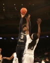 4/12/2016 10:00AM -- Middle Village, NY, U.S.A  -- Riverdale Baptist forward Morgan Smith (3) goes up for a shot while being defended by Ribault guard Rennia Davis (10) during the first half during Dick's Sporting Goods High School Basketball Nationals at Madison Square Garden -- Photo by Andy Marlin USA TODAY  Sports Images, Gannett ORG XMIT:  US 134676 Dick's basketbal 4/1/2016 [Via MerlinFTP Drop]