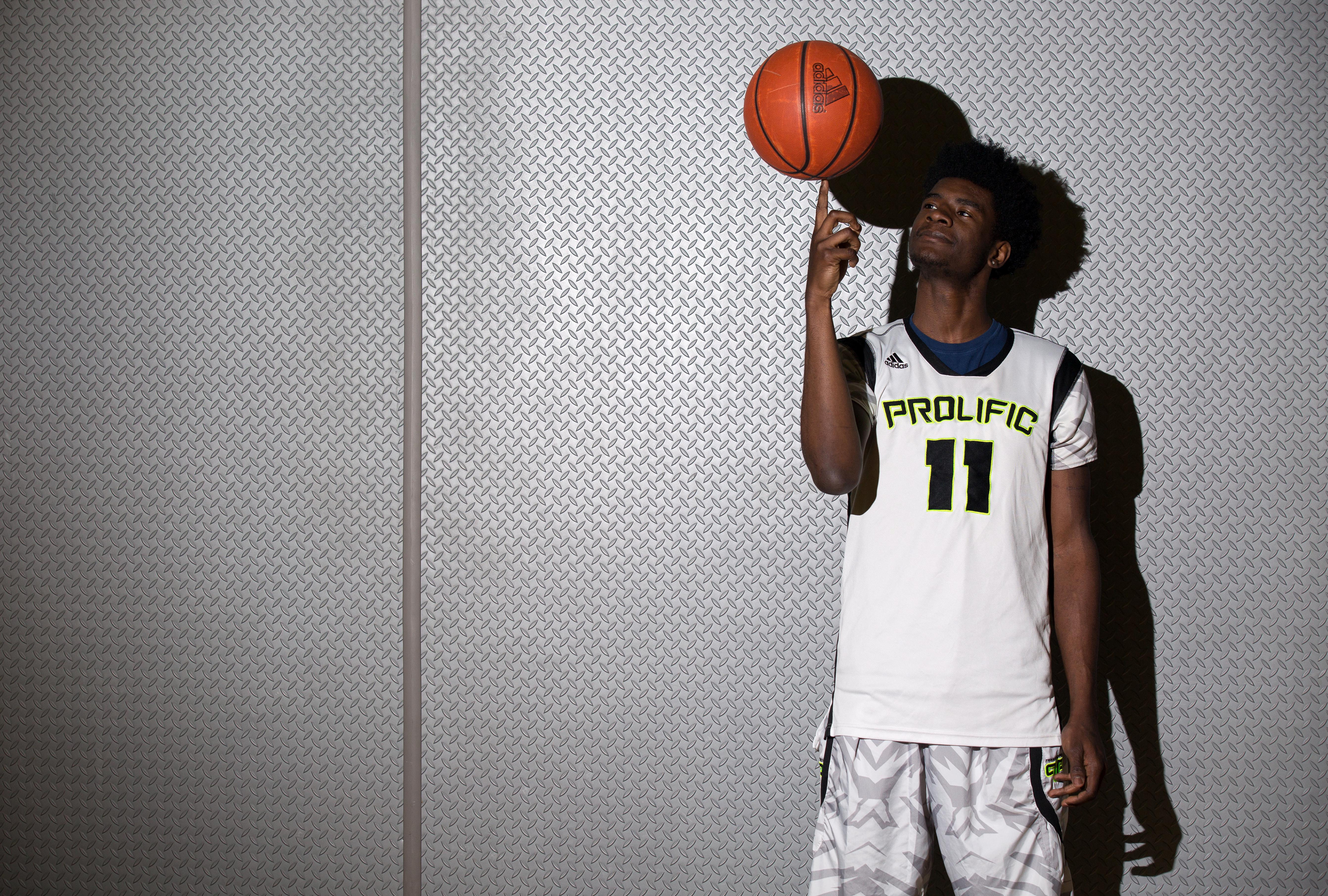 3/22/16 4:42:49 PM -- Fairfield, CA, U.S.A -- Josh Jackson of Prolific Prep in Napa, CA is one of our ALL USA TODAY basketball players of the year candidates. Photos taken at a local gymnasium. -- Photo by Kelley L Cox - USA TODAY Sports Images, Gannett ORG XMIT: US 134652 Josh Jackson 3/22/201 [Via MerlinFTP Drop]