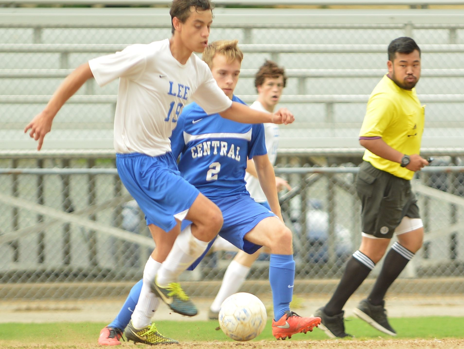 Marcos Sasia steals the ball from Central Woodstock's Benjamin Selby in the Region 2A East Tournament on May 30, 2016.