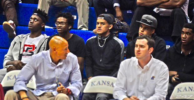 Trae Young (middle) said he's watching everything on visits. (Photo: 247 Sports)
