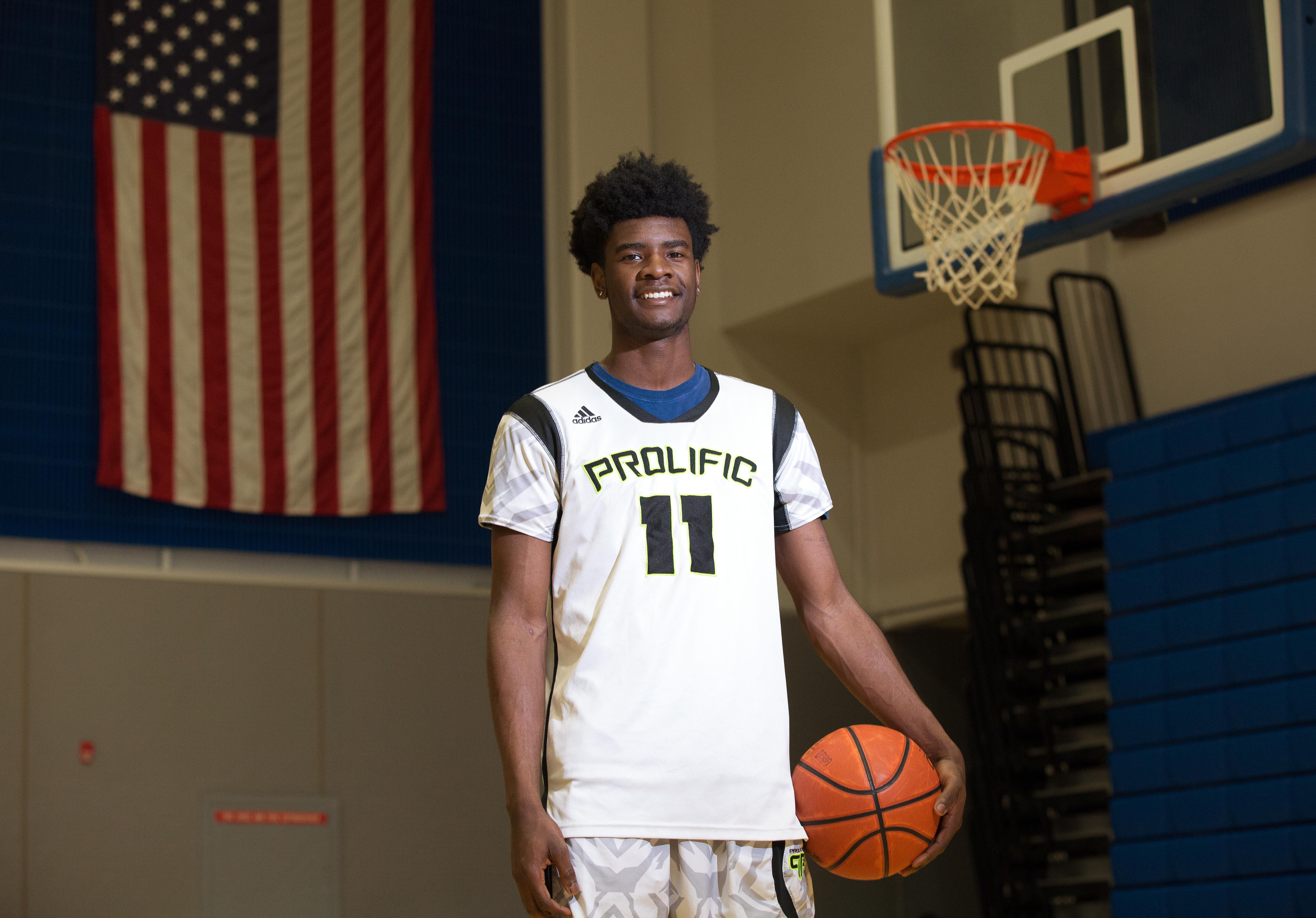 3/22/16 4:48:50 PM -- Fairfield, CA, U.S.A -- Josh Jackson of Prolific Prep in Napa, CA is one of our ALL USA TODAY basketball players of the year candidates. Photos taken at a local gymnasium. -- Photo by Kelley L Cox - USA TODAY Sports Images, Gannett ORG XMIT: US 134652 Josh Jackson 3/22/201 [Via MerlinFTP Drop]