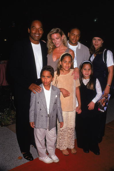 "In March 1994, O.J. Simpson and ex-wife Nicole Brown Simpson attended the premier of ""Naked Gun 33 1/3: The Final Insult,"" with their children Sydney and Justin (L). Nicole was murdered in June of that year. (Getty Images)"
