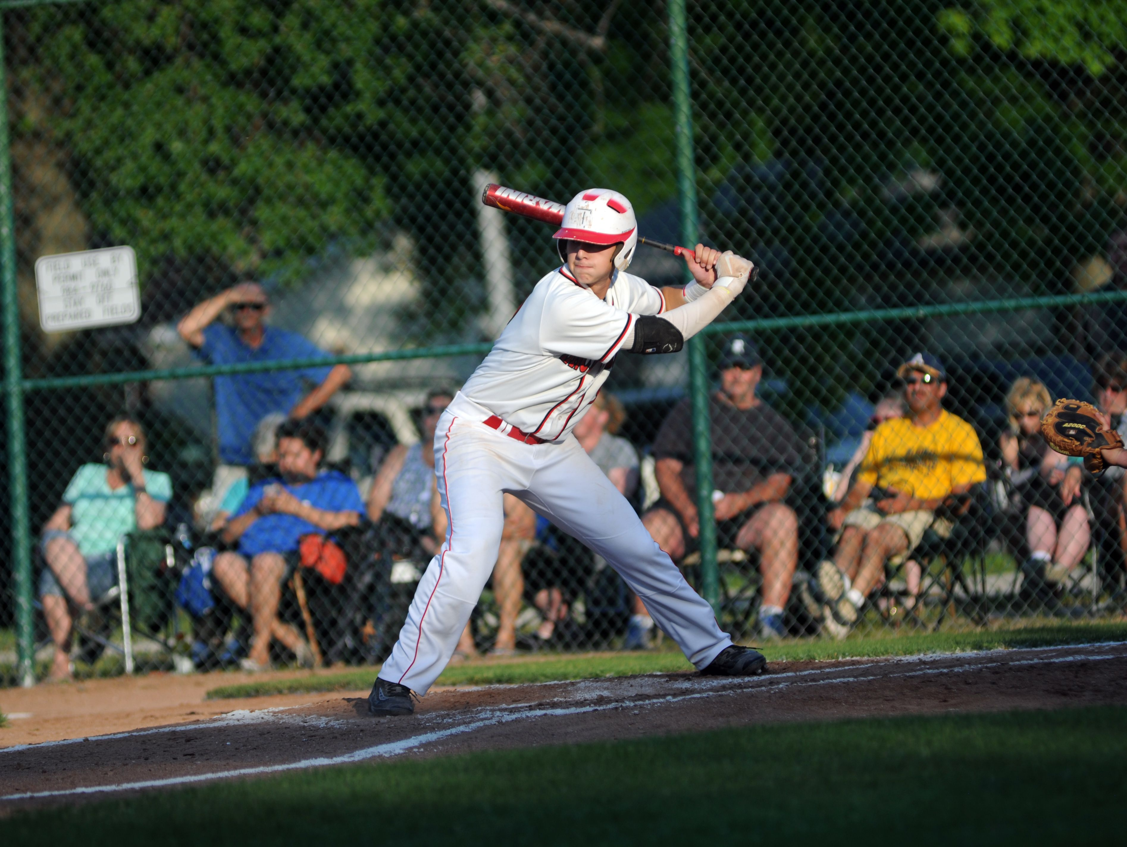 Anchor Bay Tars' Zach Capaldi readies for a pitch Monday, June 19, during the SC4 Blue Water Area All-Star Game at Sanborn Park.