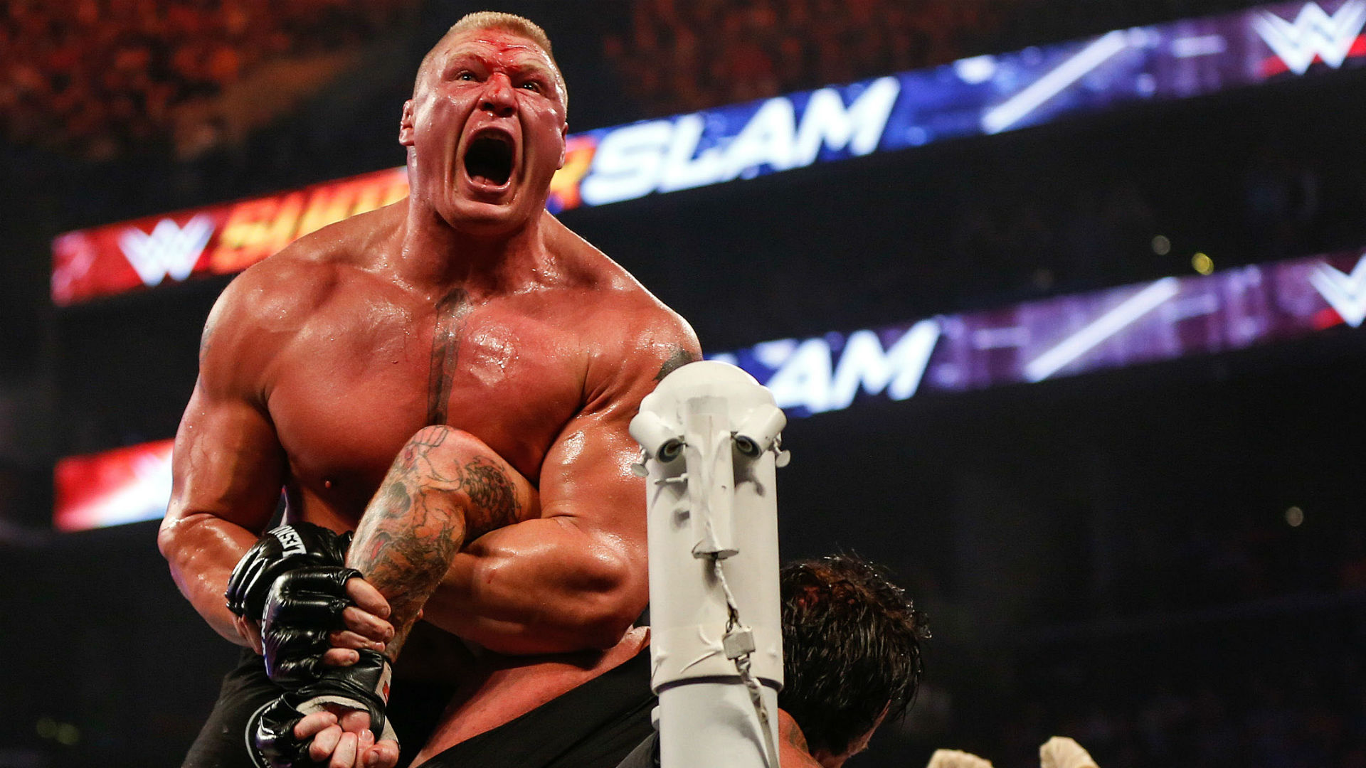 Brock Lesnar once wrestled at 98 pounds says HS coach. (Photo: Getty Images)