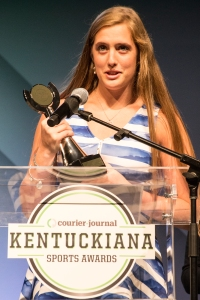 Volleyball player Marissa Hornung took home Female Athlete of the Year for Southern Indiana at the Courier-Journal Kentuckiana Sports Awards on Tuesday night. 6/14/16
