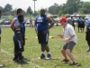 Maryland assistant head coach Pete Lembo gives DeMatha (Hyattsville, Md.) offensive lineman Joshua Contee instruction at the Sound Mind, Sound Body Football Academy in Burtonsville, Md. (Photo: Jim Halley, USA TODAY Sports).