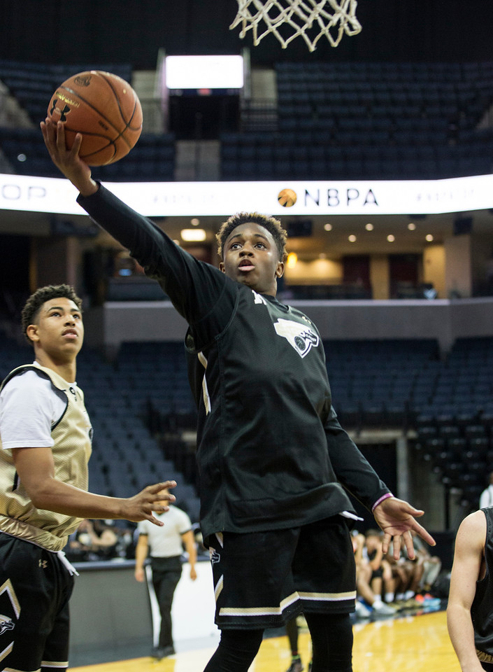 Chris Lykes led the Heat to the championship at the NBA Players Association Top 100 Camp with 25 points in the title game on Saturday, outplaying two top point guards. (Photo by Kelly Kline/Under Armour)