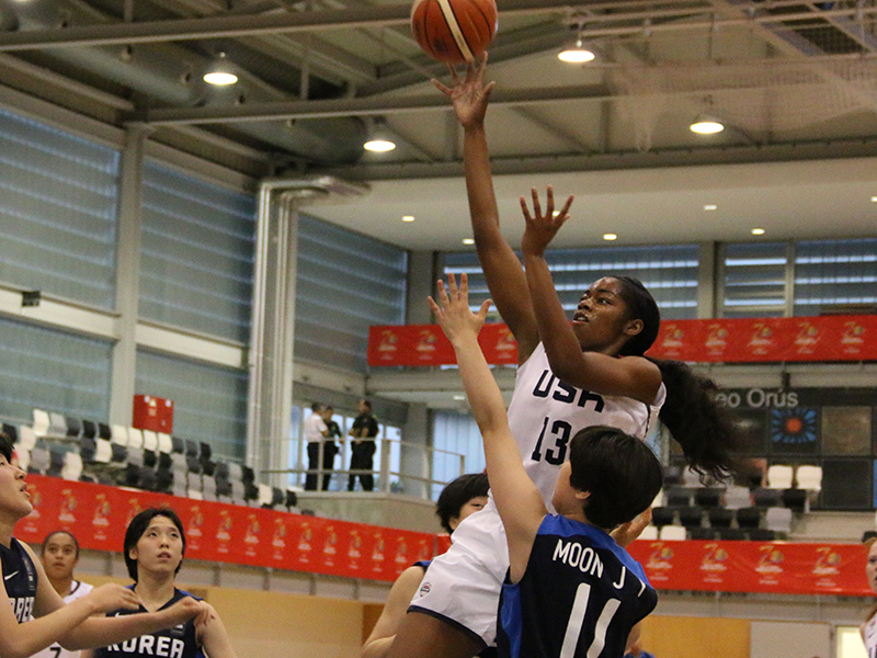 Charli Collier led a dominant effort by Team USA's post players (Photo: USA Basketball)