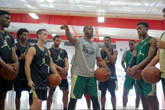 Chris Paul was hands on with campers all weekend. (Photo: CP3 Camp)