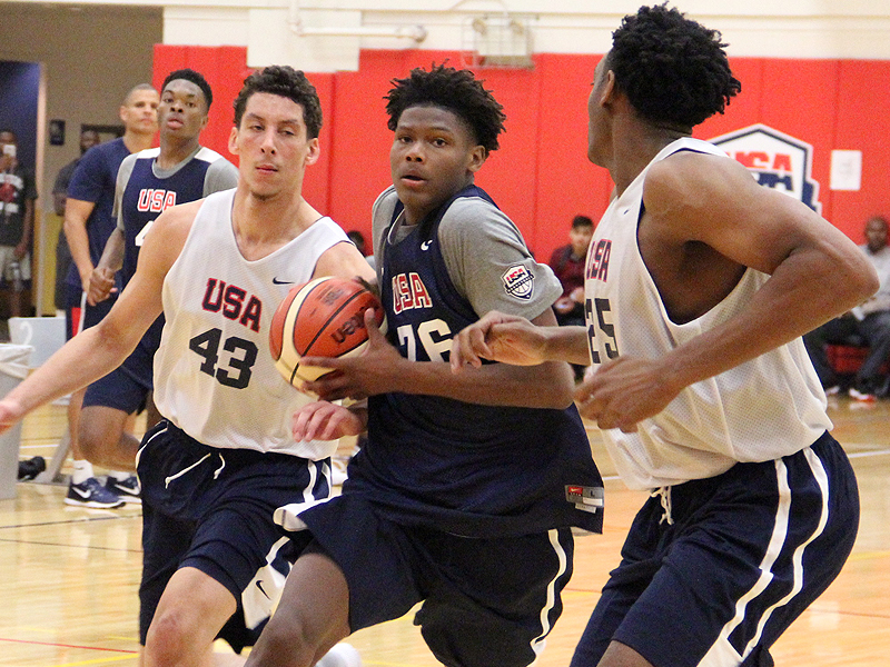 Cameron Reddish at Team USA training camp (Photo: USA Basketball)