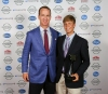 Peyton Manning with Trenton Fryman during the Kentuckiana Sports Awards.June 14, 2016