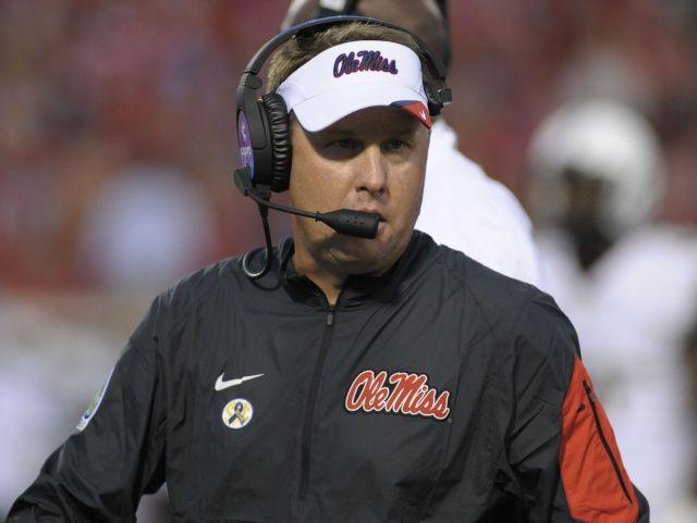 Coach Hugh Freeze.