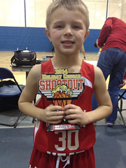 Brody Stephens with a basketball trophy before he was diagnosed with cancer for the second time. (Photo: Photo provided by the Stephens family)