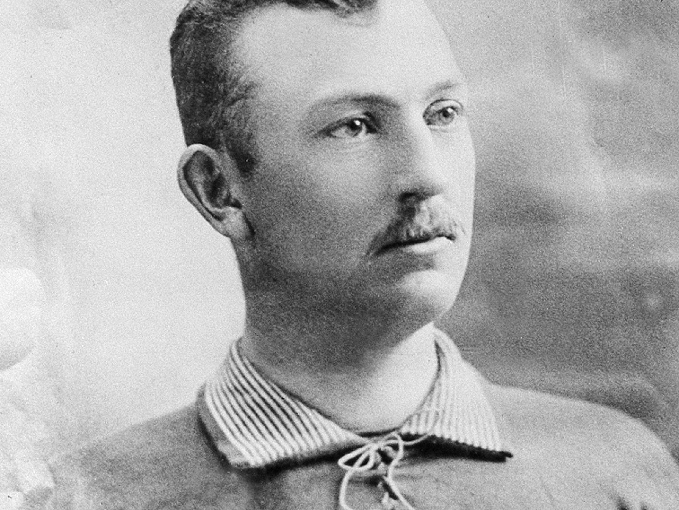 Cleveland Indians pitcher Cy Young poses in this undated photo at an unknown location. Young made his major league debut in 1890 and pitched for five teams during his 22-year career. The right-hand pitcher, winner of more major league games than any other pitcher, threw 749 complete games and won 511 games, both records. Young was elected into the Baseball Hall of Fame in 1937. He was born in 1867 and died in 1955. The Cy Young Award was created in 1956 to honor the best major league pitcher annually.