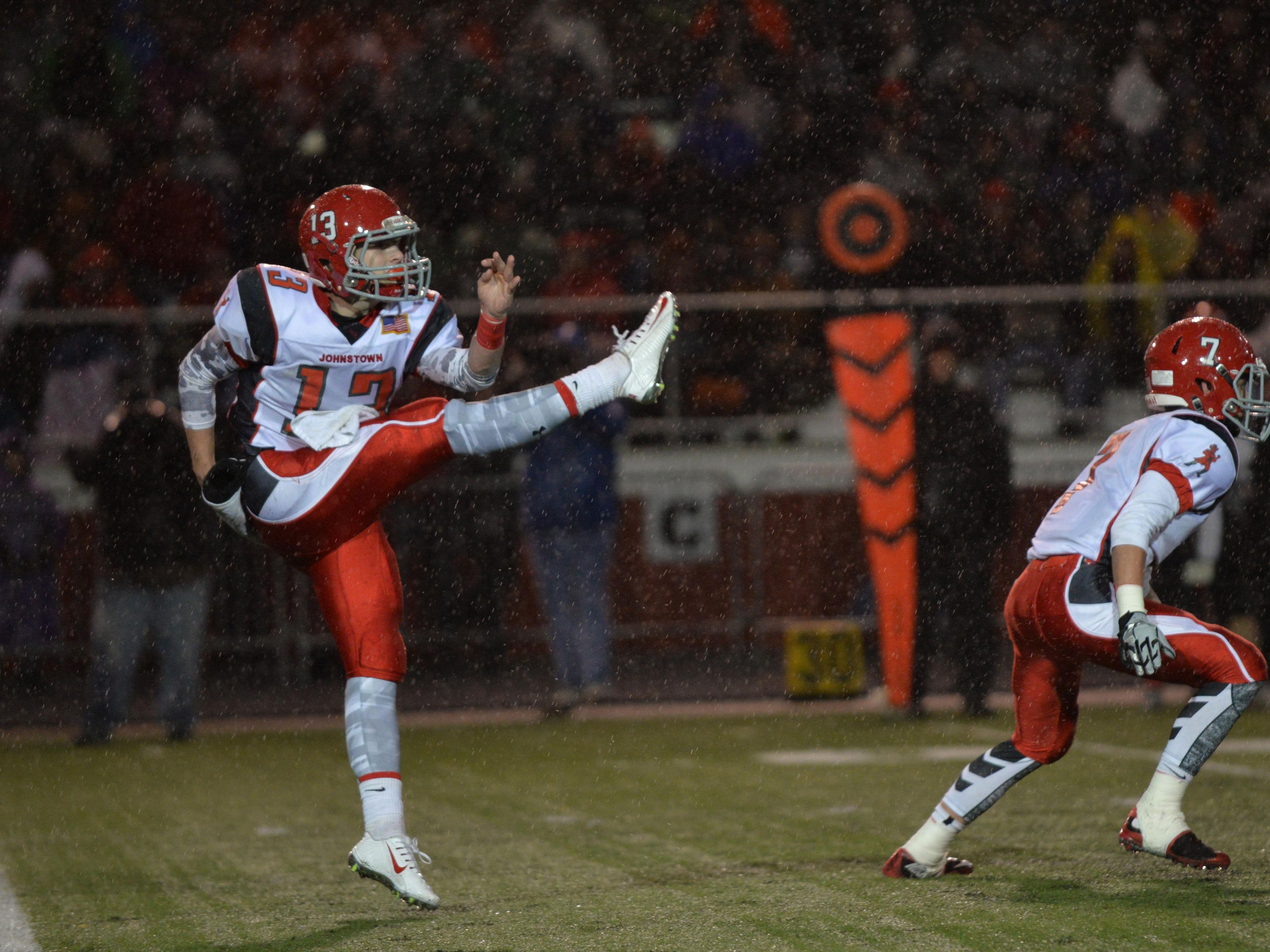 Johnstown junior punter Cody Workman was named to the Division IV All-Ohio first team on Tuesday.