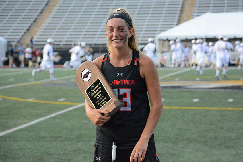 Katie Hoeg with the MVP trophy (Photo: Casey Vock, 3dRising.com)
