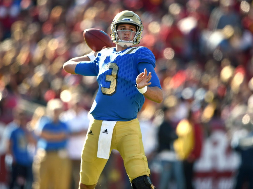 Josh Rosen, who started last season as a freshman at UCLA, was a junior starter for the 2013 St. John Bosco (Bellflower, Calif.) state champion. (Photo: Kirby Lee, USA TODAY Sports).