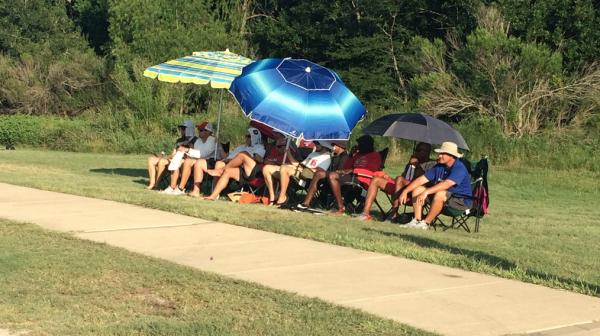 Cedar Hill coaches watch 7v7 action Friday. (Photo: TexasHSFootball.com)