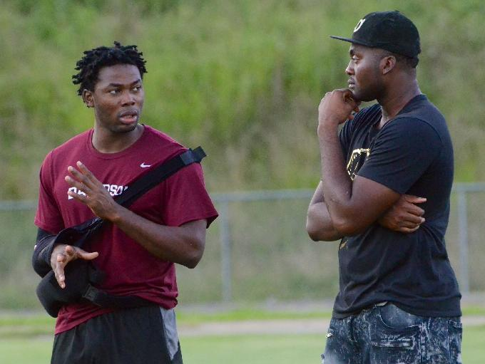 Davidsion Academy football players and Nigeria natives Ani Izuchukwu (left) and Obinna Eze (right) are two of the most sought-after football recruits in Middle Tennessee.