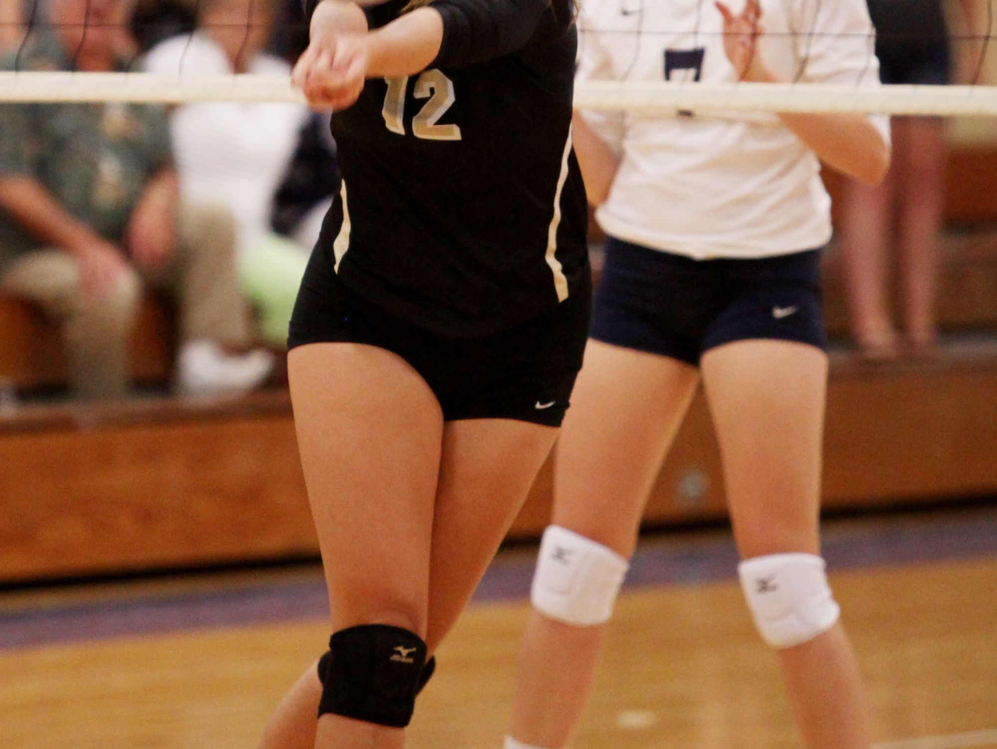 Buffalo Gap's Emily Hanger bumps the ball during Tuesday night's game at R.E. Lee in Staunton on Aug. 30, 2016.
