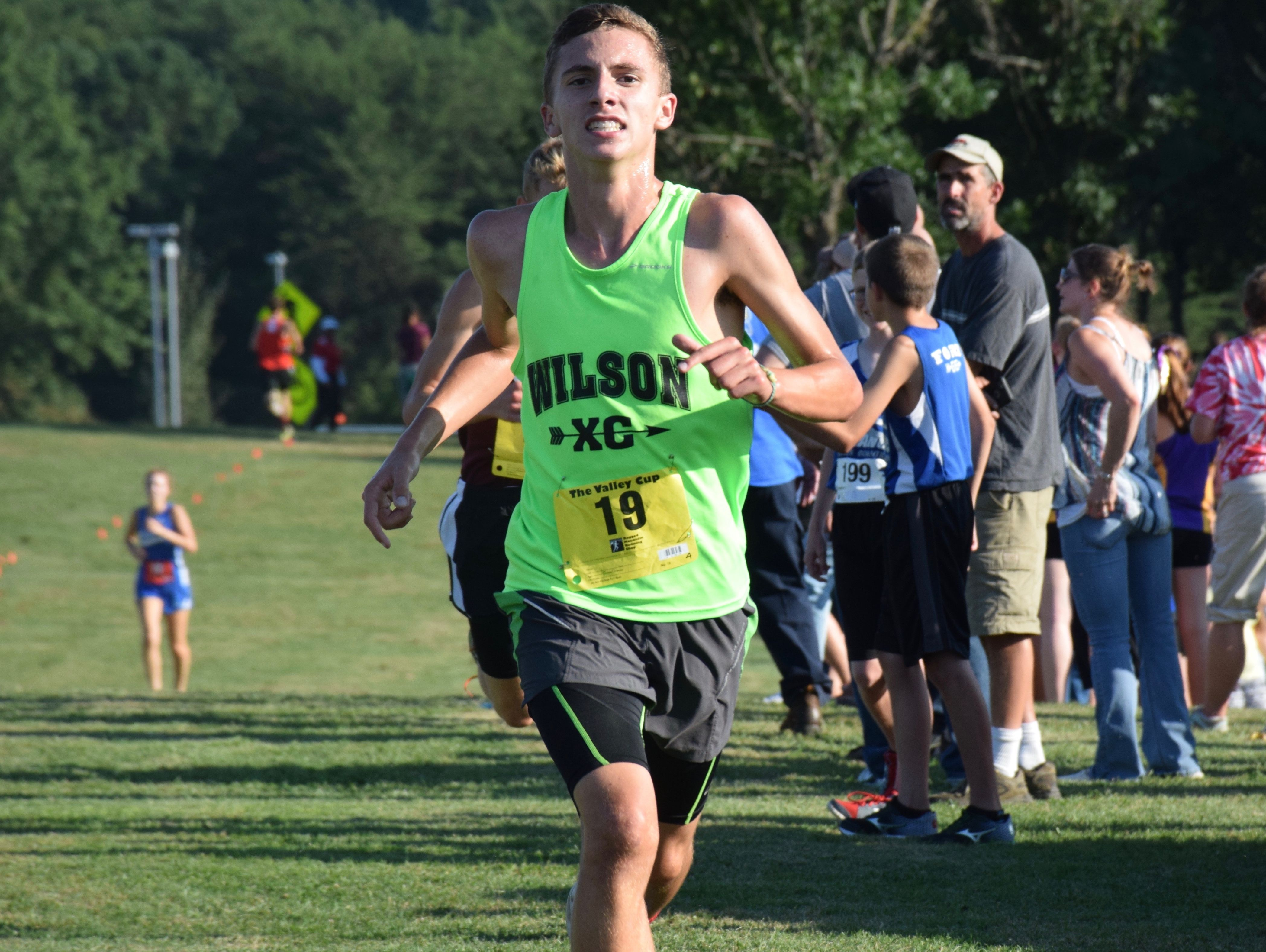 Sophomore Vincent Leo is part of a strong top five this season for Wilson Memorial's boys cross country team.