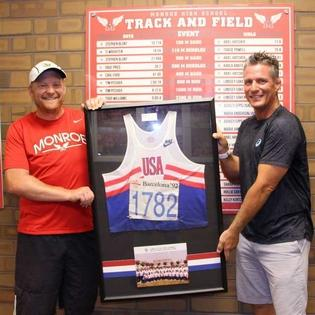 Former Olympian Todd Williams donated the jersey he wore in Barcelona to his alma mater in Michigan (Photo: Monroe Public Schools)
