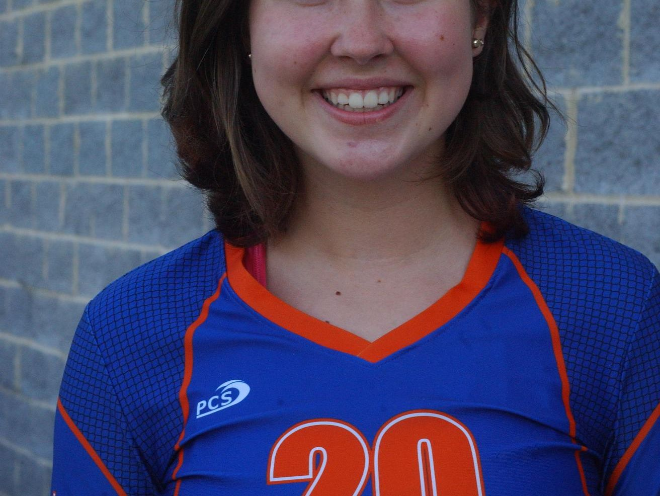 Grace Christian volleyball player Hope Campbell on August 13, 2016.