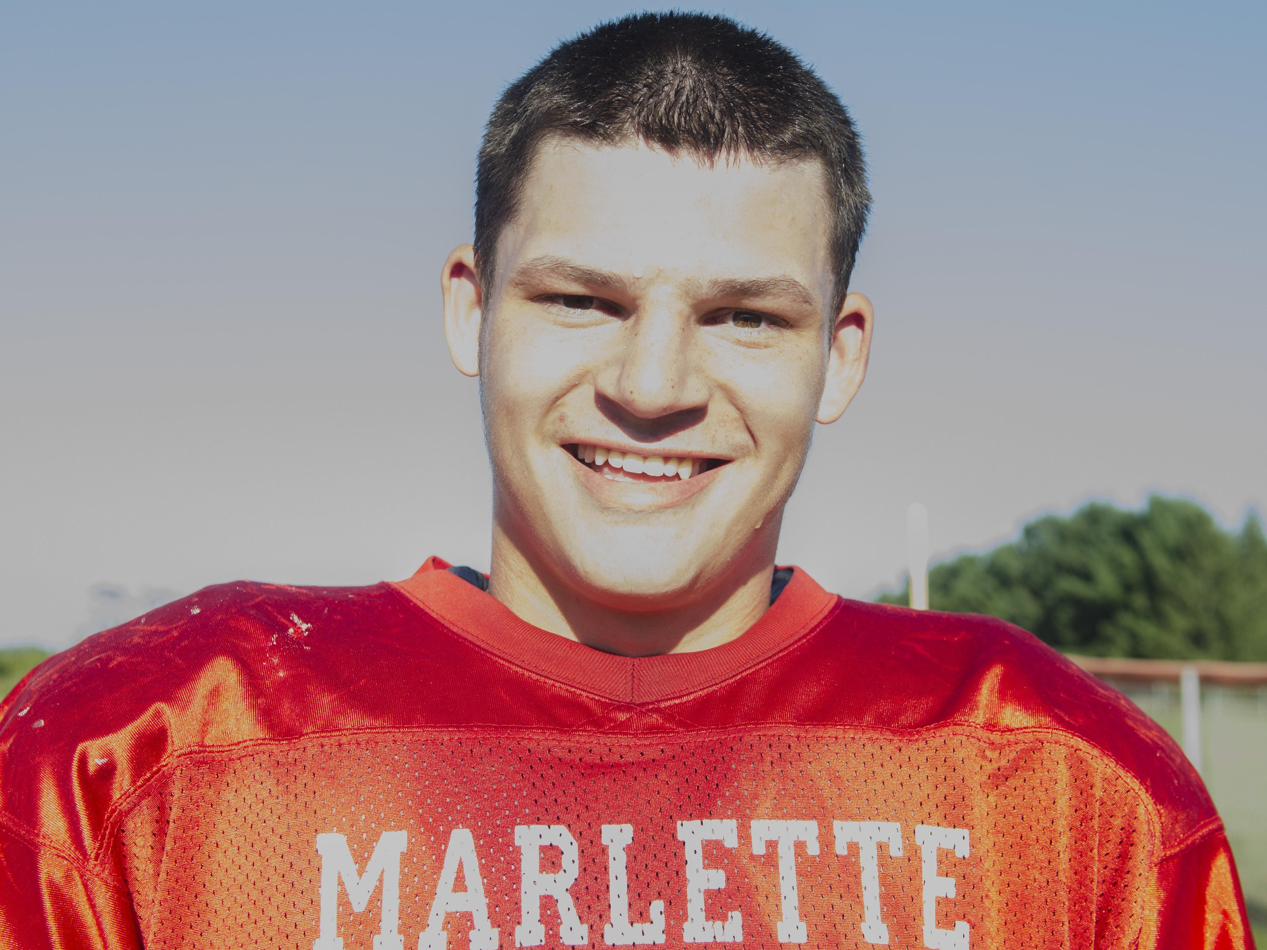 Ethan McKenney Marlette Football 2016