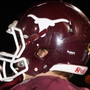 Kossuth High in Mississippi features a Texas-inspired logo with a Texas A&M inspired name and colorway (Photo: Twitter)