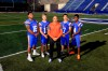 Bishop Gorman coach Kenny Sanchez surrounded by (from left), Haskell Garrett, Tate Martell, Biaggio Ali Walsh and Alex Perry (Photo: Greg Cava)