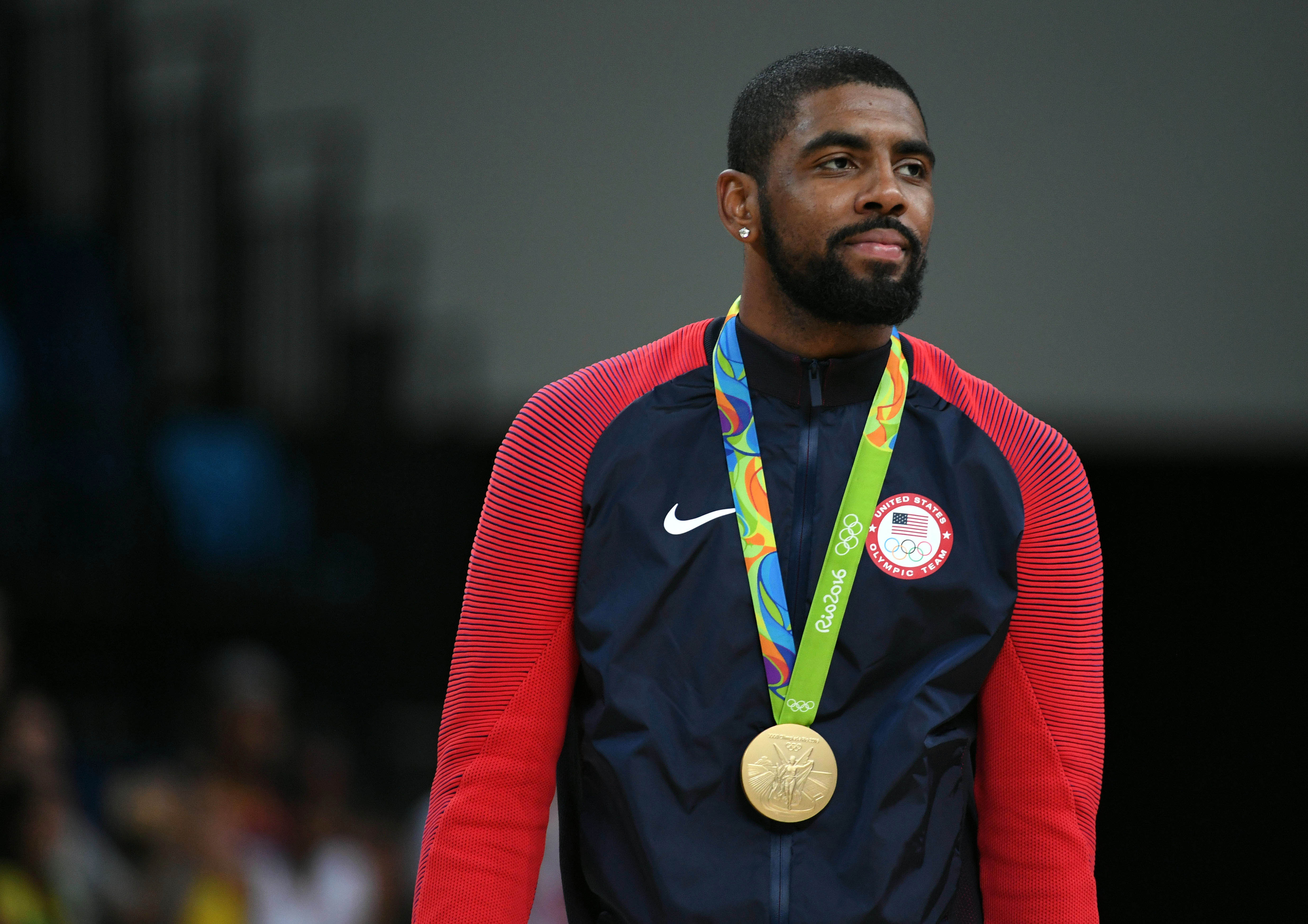 Kyrie Irving (10) helps USA win gold in Rio 2016 Summer Olympic Games. (Photo: RVR Photos, USA TODAY Sports)